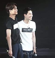Kai and Suho butt touch