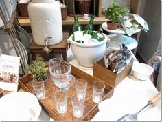 Pottery Barn Table Outdoor Dining Display