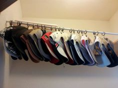 Easy baseball cap storage. I should have done this a long time ago. Ball c1fc042db4c