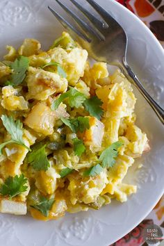 Recipe for Poblano Chile Scramble - Taste and Tell