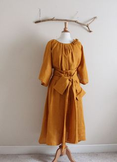 custom linen many moods dress  with 1 by annyschooecoclothing, $158.00
