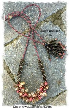 Beaded Kumihimo Bauble & Leaf Necklace Kit