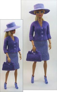 Traje a crochet para Barbie