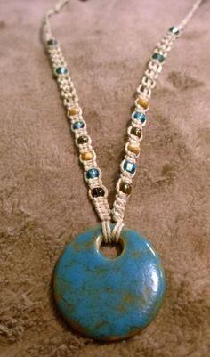 Antique Turquoise Hemp Necklace