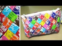 Candy Wrapper Purse to hold makeup when going out! I already eat a lot of chocolate so why not right!