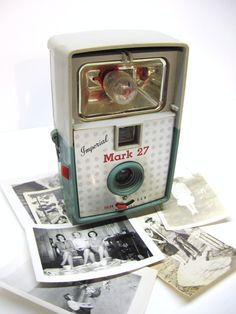 retro imperial mark 27 vintage camera and flash