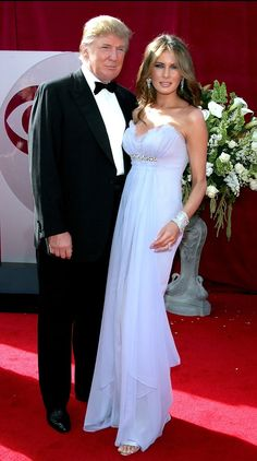 Melania Trump Evening Dress - Melania Trump looked ethereal in her strapless lavender gown at the 57th Emmy Awards.
