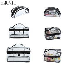 Waterproof PVC Transparent Lady Travel Cosmetic Bag Fashion Portable Zipper Cosmetic Storage Bag Organizer Washing Toilet Bag