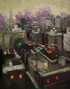 "Saatchi Art Artist Chin h Shin; Painting, ""Rooftop South New York"" #art"