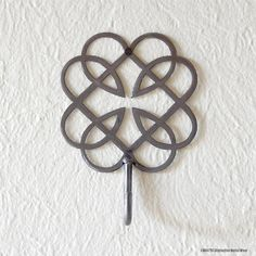 Father Daughter Celtic Knot Hook Handmade Metal by WATTOonline