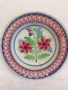 Scottish Pottery Spongeware Bowl, Kirkcaldy Most Likely