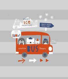 snow bus by lizzie m