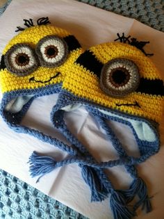 Minion Hat with Fleece Lining Child Animal by LakeviewCottageKids