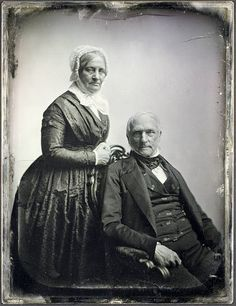 unidentified couple from 1850, born not in the 19th century, but in the 1700s...