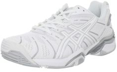 $114.95-$120.00 ASICS Women's Gel Resolution 4 Tennis Shoe,White/Silver,8.5 M US - Get in the game with shock-absorbing GEL technology in ASICS Women's GEL-Resolution 4 Tennis Shoes A long-time favorite, the ASICS GEL-Resolution® gets updated with a form-fitting Flexion Fit™ upper with a P.H.F.® memory foam collar for a customized fit. You'll stay steadier on your feet with the stability and suppo ...