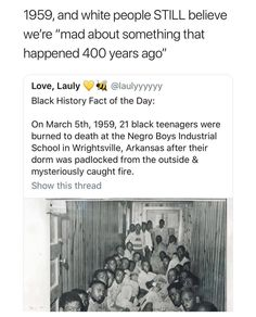 We're mad about something that BEGAN 400 years ago Racial Equality, Intersectional Feminism, Anti Racism, Equal Rights, Patriarchy, The More You Know, Faith In Humanity, Social Issues, History Facts