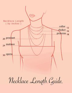 Necklace length guide  www.woosterandjeeves.com