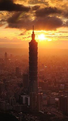 Sunset Clouds over Taipei, Taiwan