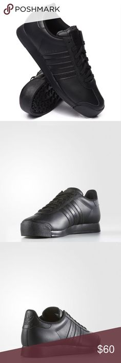 adidas SAMOA CLASSIC TONAL Men's Shoe Triple Black The Adidas Originals Samoa Men's Casual Shoes was first released in the '80s to resemble a classic soccer cleat and quickly became one of the decade's favorite trainers.  This version has the same rubber toe bumper and heel tab as the original, but with a smooth leather upper with T toe detail.  Full grain leather and synthetic upper with a rubber toe bumper Mesh lining Classic 3-Stripes Injected PU midsole Rubber outsole Style: AQ7908  New…