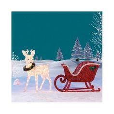 Christmas-Reindeer-Decoration-Garden-Sleigh-LED-lights-Indoor-Outdoor-Xmas-Deer