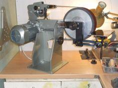 Belt Grinder Homemade belt grinder fabricated from steel and aluminum