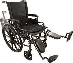 Roscoe Medical W418168E Onyx K4 Wheelchair with Elevating Leg Rests 18 ** View the item in details by clicking the image
