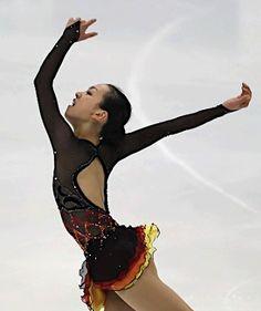 Mao Asada - Black Figure Skating / Ice Skating dress inspiration for Sk8 Gr8 Designs.