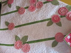 Here's a cute take on raw edge applique.  Fun for a baby quilt.  How about in a border?