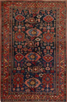 Matt Camron Rugs & Tapestries - Antique Collection - Antique Persian Bijar Rug - 08434HA