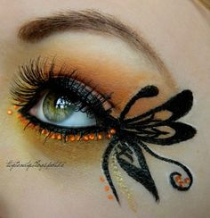 Butterfly created by Krissii on Makeup geek...would be great for a fairy costume on Halloween