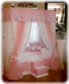 TODDLER Disney Princess  Canopy Bedding..Girls Bed...Canopy Bed, girls furniture