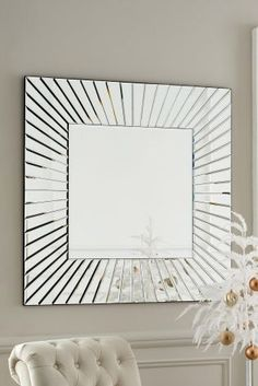 Square Facet Mirror from Next