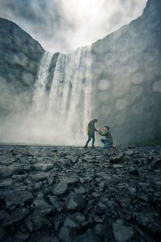 He asked her to marry him in front of a gorgeous waterfall, and the full story is just amazing.