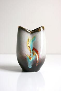 Mid Century German Fat Lava Pottery Vase by Jasba Keramik