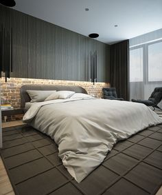 Bedroom design; love the lighting