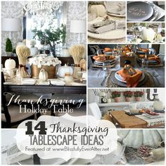 14 Thanksgiving Tablescape Ideas - Blissfully Ever After