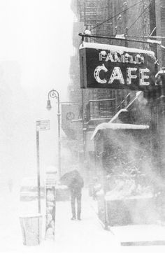 ♀ Black and White snow day Soho, NYC  Michael Magill