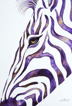 Zebra stripes in watercolor...