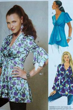 Womens Sewing Pattern Baby Doll Tunic Tops by by Sutlerssundries, $6.99