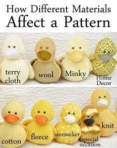 How Different Materials Affect a Pattern | Sweetbriar SistersSweetbriar Sisters