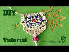 Macramé Necklace with Flower Petals [Tutorial] - YouTube