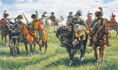 This is the Scale Napoleonic War French Imperial General Staff Figures with 13 Horses) Plastic Model Military Figure Kit from Italeri Etat Major, Empire, Military Figures, France, Napoleonic Wars, Photos, Pictures, Plastic Models, Army