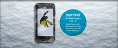 SNOW PROOF - GO FURTHER | closed to snow + ice = Along with water and dirt, LifeProof blocks snow and ice. Take iPhone 6 into the wilds of winter without worry. Snow And Ice, No Worries, Iphone 6, Winter, Winter Time, Winter Fashion