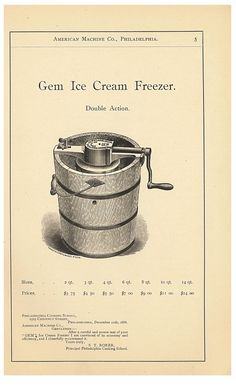 Don't forget that July is National Ice Cream Month! Our friends at Smithsonian Libraries uncover homemade ice cream freezers from the late 1800s.
