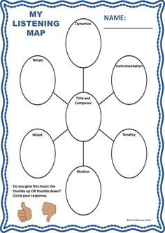 MUSIC LISTENING: 18 pages of activities/worksheets. Caters to a range of grade levels.    $
