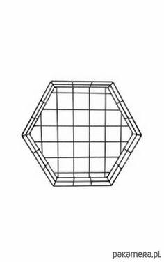 pokój dziecka - różne-Druciany heksagon
