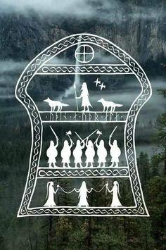 •ʂɬąყ•ʄıɛཞƈɛ•ცı†ƈɧɛʂ• Norse Goddess, Norse Pagan, Pagan Art, Occult Art, Norse Mythology, Viking Designs, Celtic Designs, Norse Tattoo, Viking Tattoos