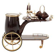 Very Rare Aldo Tura Bar Cart With Nice Set Of Accessories