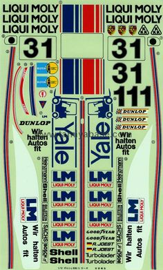 Tamiya 58006 Porsche 908 decal - This is how the Porsche 908 decal looked like.