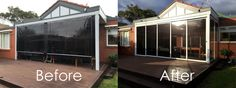 Accolade® Weather Screens have recently installed their PVC weather screen system for a new client in Melbourne's south-eastern suburbs. Cafe Blinds, Pvc Blinds, Outdoor Blinds, Mini Blinds, Screens, Melbourne, Home Improvement, Outdoor Decor, Weather Conditions